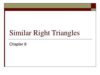Similar Right Triangles