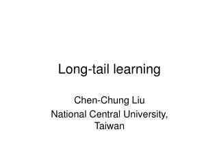 Long-tail learning