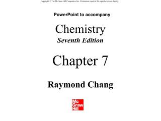 Chemistry Seventh Edition