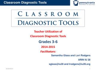 Teacher Utilization of  Classroom Diagnostic Tools Grades  3-6 2014-2015    Facilitators: