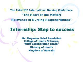 Internship: Step to success