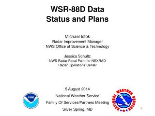 WSR-88D Data Status and Plans Michael Istok Radar Improvement Manager