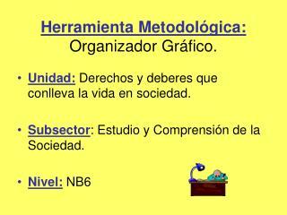 Herramienta Metodol gica: Organizador Gr fico.
