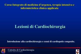 Corso Integrato di medicina d'urgenza, terapia intensiva e infermieristica clinica applicata