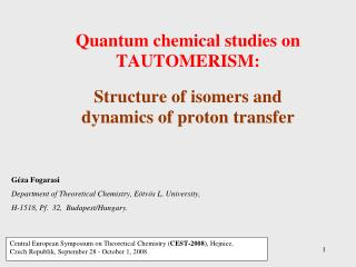 TAUTOMERISM:  a special form of isomerism,  inter molecular proton transfer