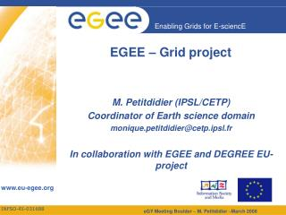 EGEE – Grid project