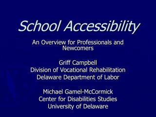 School Accessibility