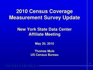 CCM – Census Coverage Measurement