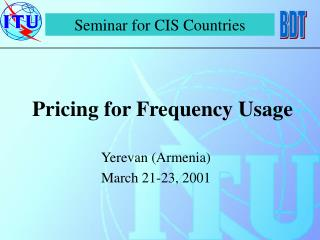Pricing for Frequency Usage