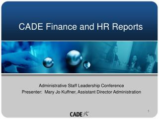 CADE Finance and HR Reports
