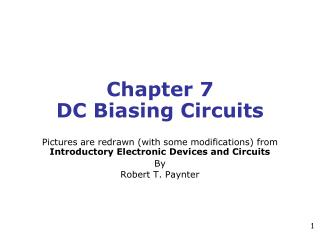 Chapter 7 DC Biasing Circuits