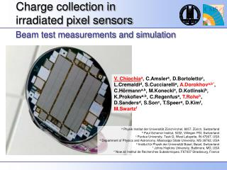 Charge collection in  irradiated pixel sensors