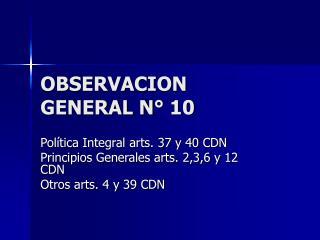 OBSERVACION  GENERAL N° 10