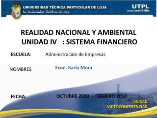 ESCUELA :            Administración de Empresas
