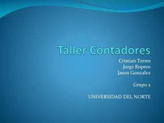 Taller  Contadores
