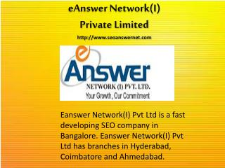 PPC Services by Eanswer Network India Pvt Ltd