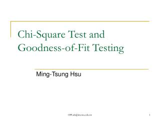 Chi-Square Test and Goodness-of-Fit Testing