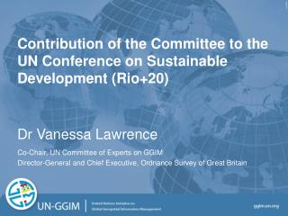 Contribution of the Committee to the UN Conference on Sustainable Development (Rio+20)