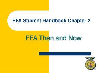 FFA Student Handbook Chapter 2