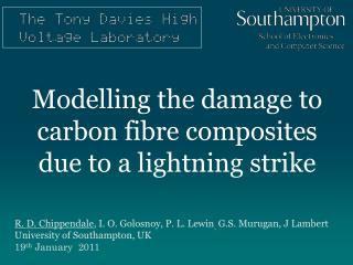 Modelling the damage to carbon fibre composites due to a lightning strike