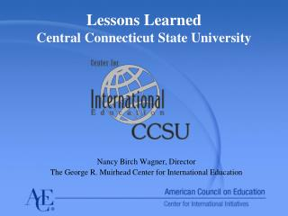 Lessons Learned Central Connecticut State University