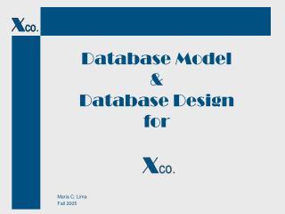 Database Model & Database Design for