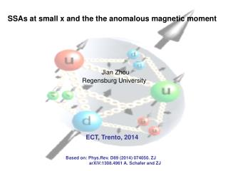 SSAs at small x and the the anomalous magnetic moment