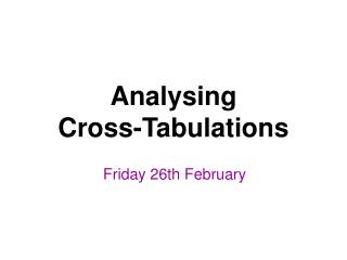 Friday 26th February