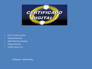 Elaine Cristina Coelho Raphael Miranda Rafael Moraes Gonzales  Thiago Miranda Vinicius Alves Cruz