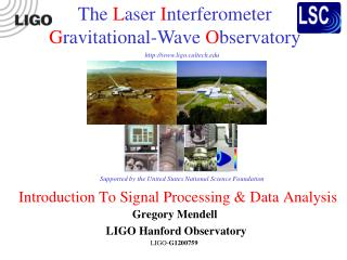 Introduction To Signal Processing & Data Analysis
