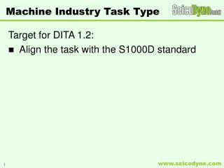 Machine Industry Task Type