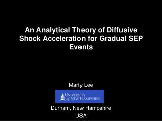 An Analytical Theory of Diffusive Shock Acceleration for Gradual SEP Events