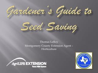 Gardener�s Guide to Seed Saving