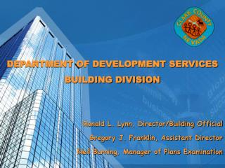DEPARTMENT OF DEVELOPMENT SERVICES BUILDING DIVISION