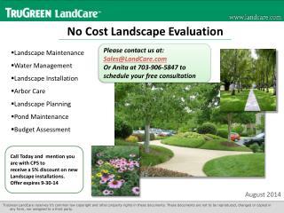 No Cost Landscape Evaluation