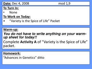 Date:  Dec 4, 2008mod 1,9