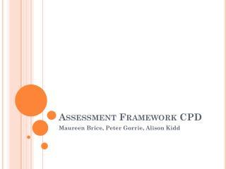 Assessment Framework CPD