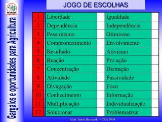 JOGO DE ESCOLHAS