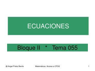 Bloque II   *   Tema 055