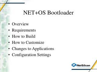 NET+OS Bootloader
