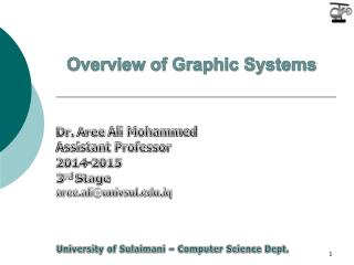 Overview of Graphic Systems