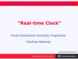 """Real-time Clock"""