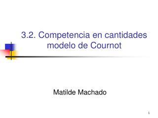3.2. Competencia en cantidades modelo de Cournot