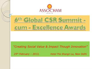 """""""Creating  Social Value & Impact  Though Innovation"""""""