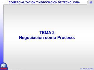 TEMA 2  Negociación como Proceso.