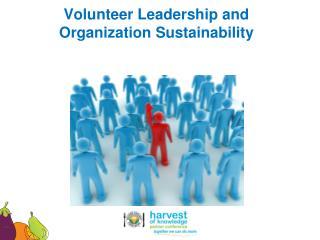 Volunteer  Leadership and Organization Sustainability