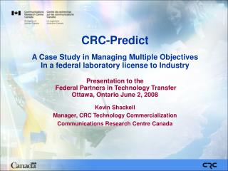 CRC-Predict A Case Study in Managing Multiple Objectives