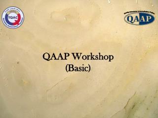 QAAP Workshop Basic