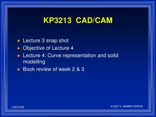 KP3213  CAD/CAM