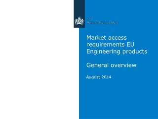 Market access requirements EU Engineering products General overview